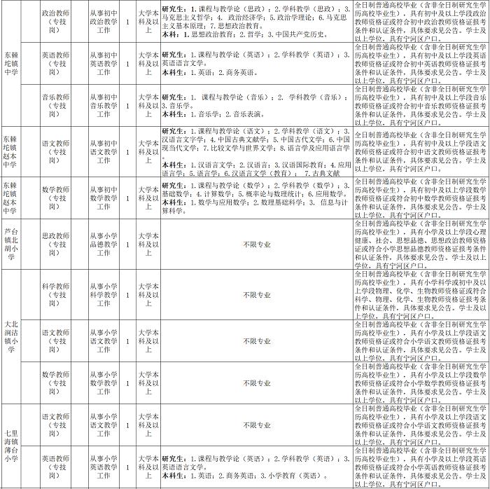2020年天津宁河区教育系统招聘公告图3