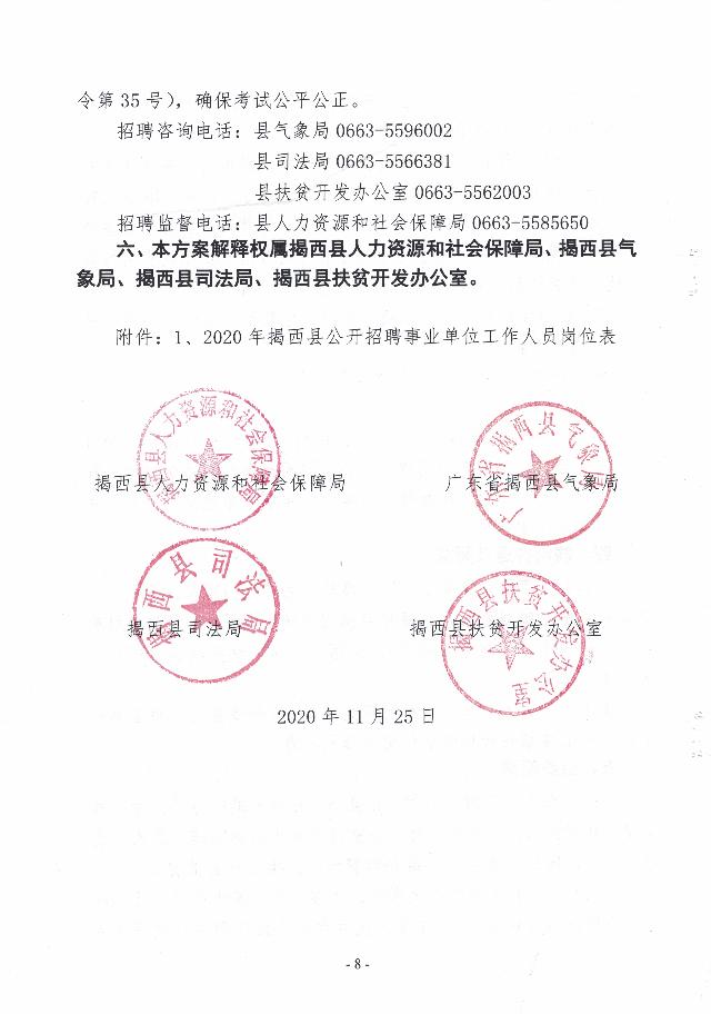 2020年揭西县公开招聘事业单位工作人员公告8.jpg