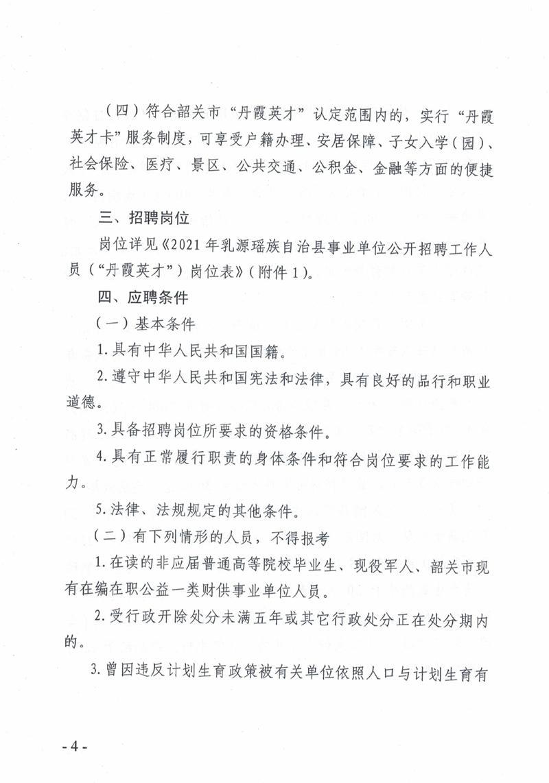 """2021年韶关市乳源瑶族自治县事业单位招聘工作人员(""""丹霞英才"""")公告"""